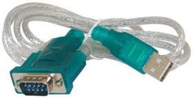 PL1391, Шнур-адаптер USB-COM, разъёмы AM/DB9 (RS232), 1.2 м