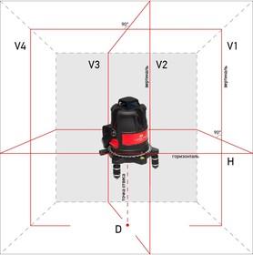 Построитель лазерных плоскостей (лазерный уровень) ADA ULTRALINER 360 4V (построитель, лазерные очки, магнитная мишень, винт-удлинитель 5/8'