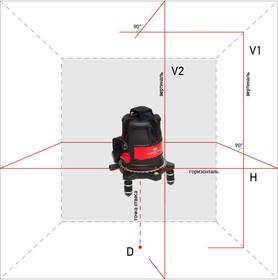 Построитель лазерных плоскостей (лазерный уровень) ADA ULTRALINER 360 2V (построитель, лазерные очки, магнитная мишень, винт-удлинитель 5/8'