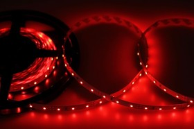 Фото 1/3 141-331, LED лента открытая, 8мм, IP23, SMD 3528, 60 LED/m, 12V, красная