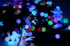 """323-619, Гирлянда """"LED ClipLight - МУЛЬТИШАРИКИ"""" 24V, 3 нити по 20 м, свечение с динамикой, цвет диодов RGB"""