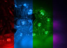 331-309, Гирлянда LED Galaxy Bulb String 10м, белый КАУЧУК, 30 ламп*6 LED МУЛЬТИ, влагостойкая IP65