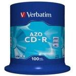 Оптический диск CD-R VERBATIM 700Мб 52x, 100шт., cake box [43430]