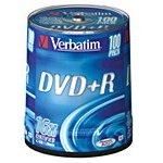 Фото 2/3 Оптический диск DVD+R VERBATIM 4.7Гб 16x, 100шт., cake box [43551]