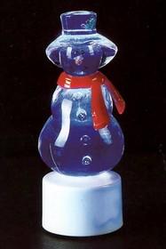 """501-046, Фигура светодиодная на подставке """"Снеговик с шарфом"""", RGB"""