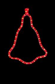 """501-217, Фигура """"Колокольчик"""" цвет красный, размер 36*30 см"""