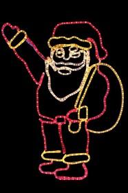 """501-312, Фигура """"Санта Клаус с мешком подарков"""", размер 100*100 см"""