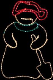 """501-321, Фигура """"Снеговик с лопатой"""", размер 94*63 см"""