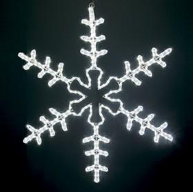 """501-333, Фигура световая """"Большая Снежинка"""" цвет белый, размер 95*95 см"""