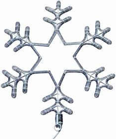 """501-347, Фигура световая """"Снежинка"""" цвет белый, размер 55 см, мигающая (2В с контроллером)"""