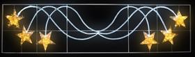 """501-361, Фигура световая """"Брызги звезд"""" 360 светодиодов 24м дюралайта, размер 400*100см"""