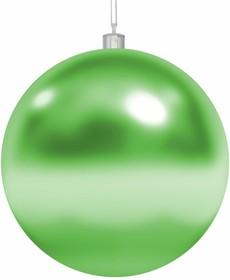 """502-014, Елочная фигура """"Шар"""", 25 см, цвет зеленый"""