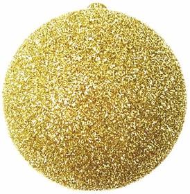 """502-041, Елочная фигура """"Шар с блестками"""", 25 см, цвет золотой"""