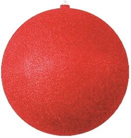 """502-042, Елочная фигура """"Шар с блестками"""", 25 см, цвет красный"""