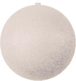"""502-045, Елочная фигура """"Шар с блестками"""", 25 см, цвет серебряный"""