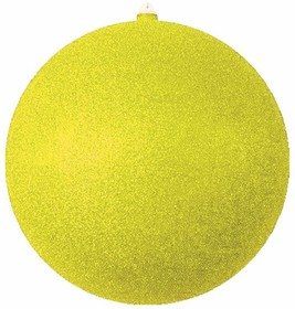 """502-051, Елочная фигура """"Шар с блестками"""", 30 см, цвет золотой"""