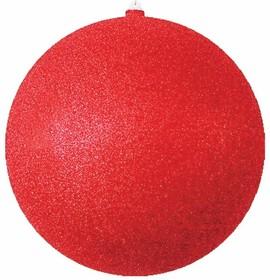 """502-052, Елочная фигура """"Шар с блестками"""", 30 см, цвет красный"""