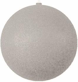 """502-055, Елочная фигура """"Шар с блестками"""", 30 см, цвет серебряный"""