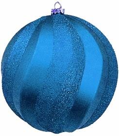 """502-063, Елочная фигура """"Шар Вихрь"""", 20 см, цвет синий"""
