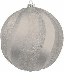 """502-065, Елочная фигура """"Шар Вихрь"""", 20 см, цвет серебряный"""