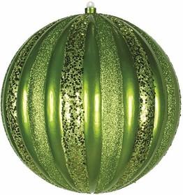 """502-084, Елочная фигура """"Арбуз"""", 30 см, цвет зеленый"""