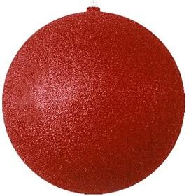 """502-142, Елочная фигура """"Шарик"""", 25 см, цвет красный"""