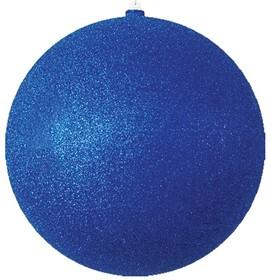 """502-153, Елочная фигура """"Шарик"""", 30 см, цвет синий"""