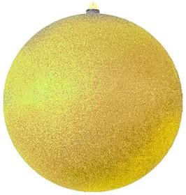 """502-151, Елочная фигура """"Шарик"""", 30 см, цвет золотой"""