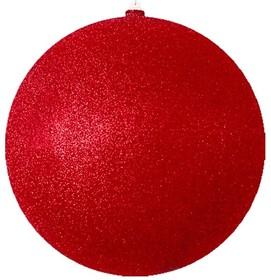 """502-152, Елочная фигура """"Шарик"""", 30 см, цвет красный"""
