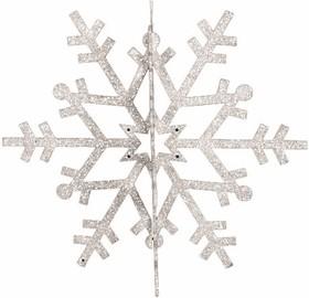 """502-355, Елочная фигура """"Снежинка резная 3D"""", 46 см, цвет белый"""