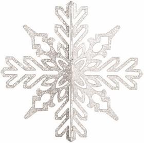 """502-356, Елочная фигура """"Снежинка ажурная 3D"""", 46 см, цвет белый"""