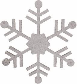 """502-385, Елочная фигура """"Снежинка классическая"""", 66 см, цвет серебряный"""
