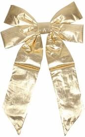 """502-511, Елочная фигура """"Бантик"""" 45 см, цвет золотой"""