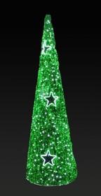"""506-256, Фигура """"Ель"""", LED подсветка, высота 5 м, зеленая"""