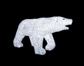 """513-121, Акриловая светодиодная фигура """"Белый медведь"""" 100х175см, 3872 светодиода, IP 44, понижающий трансфор"""