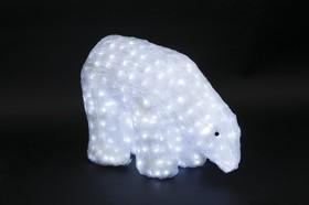 """513-123, Акриловая светодиодная фигура """"Белый медведь"""" 40см, 752 светодиода, IP 44, понижающий трансформатор"""