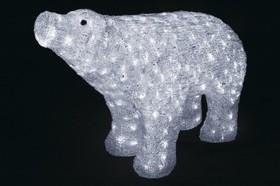 """513-302, Акриловая светодиодная фигура """"Белый медведь"""" 80*55 см, IP 44, понижающий трансформатор в комплекте,"""