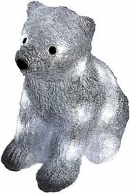 """Фото 1/2 513-313, Акриловая светодиодная фигура """"Медвежонок"""" 17х24х29 см, 4,5 В, 3 батарейки AA (не входят в комплект)"""