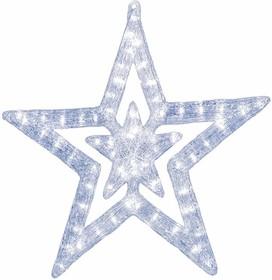 """513-343, Акриловая светодиодная фигура """"Звезда"""" 62 см, 62х59х2,5см, 63 светодиода, IP44 понижающий трансформа"""