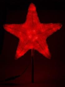 """513-432, Акриловая светодиодная фигура """"Звезда"""" 30см, 45 светодиодов, красная,"""