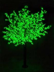 """Фото 1/2 531-234, Светодиодное дерево """"Сакура"""", высота 3,6м, диаметр кроны 3,0м, зеленые светодиоды, IP 54, понижающий"""