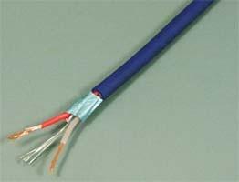 Кабель микрофонный, 2жилы, 2экрана, диаметр 3мм, синий, каб аудио/микроф\2x0,25\ MIC-3,0\2экрана\син\