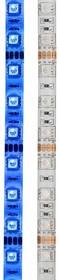 Фото 1/4 141-493-0, LED лента герметичная, IP65, SMD 5050, 60 диодов/метр, 12 В, цвет синий, 5 метров в блистере, с блок