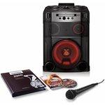 Микросистема LG OM7550K черный 1000Вт/FM/USB/BT (в комплекте: диск 2000 песен)