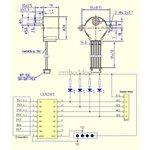 Фото 6/8 ULN2003 stepper motor driver board + 5V stepper motor, (LC-Motor-2003-SM), Шаговый двигатель