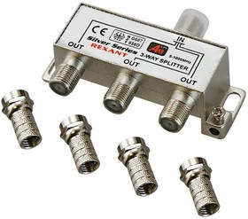 05-6102 (06-0046-C), Разветвитель (сплиттер) антенный на 3ТВ, 5-1000МГц