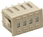 Фото 1/2 A7D2061, Switch Thumb-Pushwheel Thumbwheel BCD 0.1A 30VDC PC Board Panel Mount