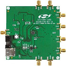 SI5356-EVB, Оценочная плата, тактового генератора Si5356 любой частоты, I2C программируемый, 4 частоты