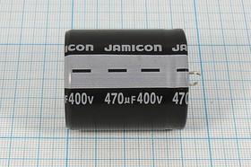 Фото 1/3 Конденсатор электролитический 470мкФ/400В , кэ 470\400\35x45\20\+ 105C\Al\2P\HSW\JAMICON