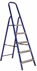 12-5046, Стремянка металлическая комбинированная пять ступеней